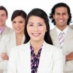 Presentación de un equipo internacional de negocios — Foto de Stock