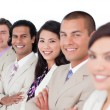 Presentation of a business team lining up — Stock Photo #10288535