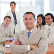 Assertive businessmin meeting — Stock Photo #10288807