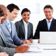 Stock Photo: A diverse business group in a meeting
