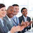 Portrait of an international business team clapping — Stock Photo