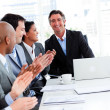 Team of successful business clapping — Stock Photo #10288958