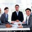 Stock Photo: Business group showing ethnic diversity in a meeting