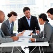 Multi-thnic business team discussing a new strategy — Stock Photo #10288966