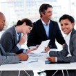 International business discussing a new strategy — Stock Photo #10288970