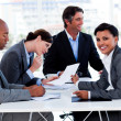 International business discussing a new strategy - Stockfoto