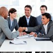 Successful international business shaking hands — Stock Photo