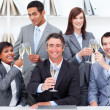 Positive business toasting with Champagne — Stock Photo
