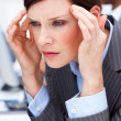 Young Businesswoman having a migraine — Stock Photo