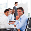 Stock Photo: Multi-ethnic business team at a meeting