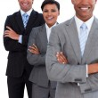 Stock Photo: Portrait of confident business team