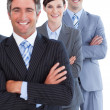 Portrait of assertive business team - Stock Photo