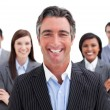 Stock Photo: Smiling business team showing diversity
