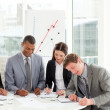 Serious business studying a contract — Stock Photo