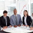 Multi-ethnic business at a gathering — Stock Photo