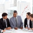 Business showing diversity discussing a new strategy — Stock Photo
