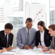 Multi-ethnic business team working together — Foto Stock #10289551