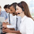 A diverse business group in a call center — Stock Photo #10289733