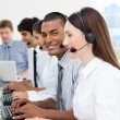 Stock Photo: International business working in call center