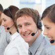 Business with headset on — Stock Photo #10289743