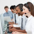 A diverse business group with headset on — Stock Photo #10289754