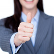 Royalty-Free Stock Photo: Close-up of a businesswoman with thumb up