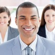 Stock Photo: Close-up of successful business team