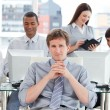 Portrait of a dynamic business team at work — Stock Photo