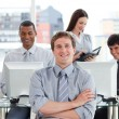 Portrait of a successful business team at work — Stock Photo #10289903