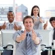 Stock Photo: Lively business with thumbs up