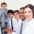 Assertive business team at work — Stock Photo