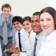 Assertive business team at work — Stock Photo #10289926