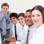 Assertive business team at work — Stock Photo
