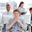 Stock Photo: Presentation of ambitious business team at work