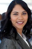 Portrait of ethnic businesswoman in office — Stock Photo