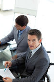Attractive businessman in a wheelchair — Stock Photo