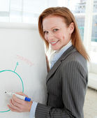 Female manager at a presentation — Stock Photo