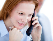 Confident businesswoman taling on phone — Stock Photo