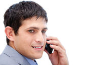 Chaming businessman talking on phone — Stock Photo