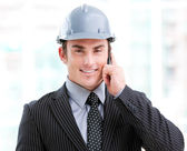Portrait of a confident male architect on phone — Stock Photo