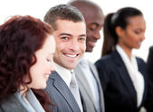 Positive multi-ethnic business in a meeting — Stock Photo