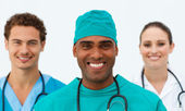Portrait of a charming medical team — Stock Photo