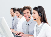 Smiling customer service representatives — Stock Photo