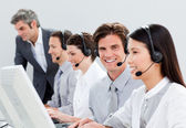Self-assured customer service representatives — Stock Photo