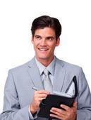 çekici işadamı bir gündem holding — Stok fotoğraf