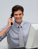 Charming businessman on phone — Stock Photo