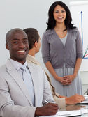 Happy Business at a meeting — Stock Photo