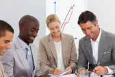 Portrait of a business team in a meeting — Stock Photo