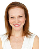 Smiling assertive businesswoman — Stock Photo