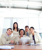 Confident business partners in a meeting — Stock Photo